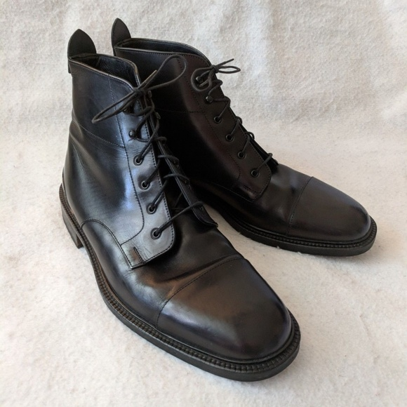 Cole Haan Shoes Black Leather Lace Up Mens Dress Boots Poshmark